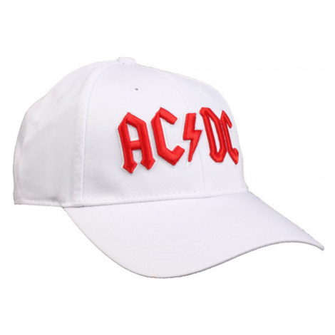 šiltovka AC/DC - Red Logo White - ROCK OFF - ACDCCAP02W