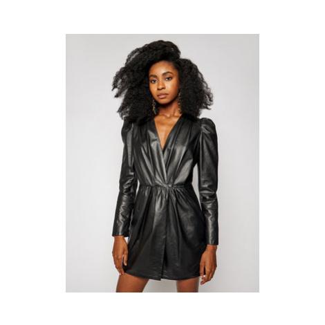 LaMarque Kožené šaty Earline 6334 Čierna Regular Fit