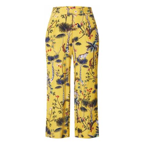 s.Oliver Plisované nohavice  žltá / zmiešané farby