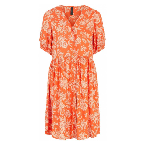 Y.A.S Košeľové šaty 'Manish'  oranžová / béžová