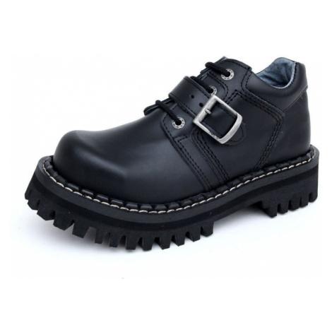 topánky kožené KMM Black Monster 1P Čierna
