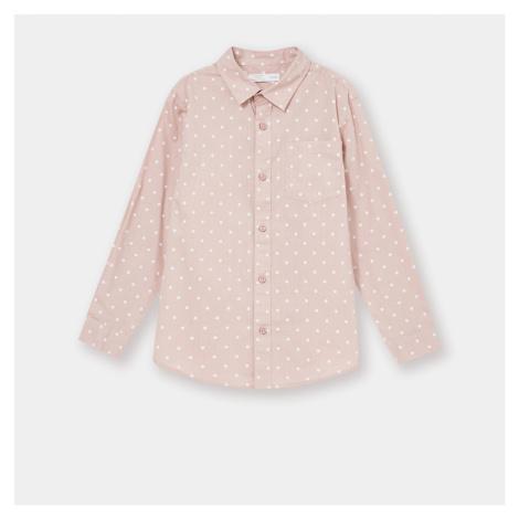 Sinsay - Bavlnená košeľa s golierom - Ružová