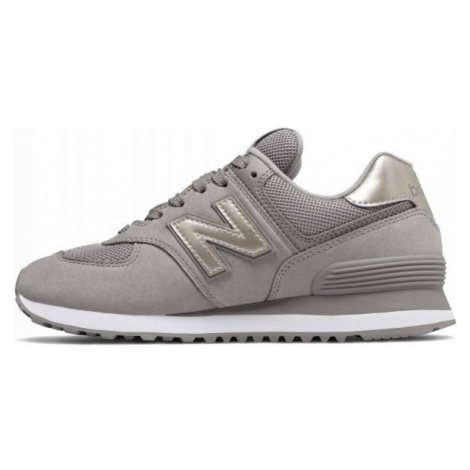 New Balance WL574WNK šedá - Dámska vychádzková obuv