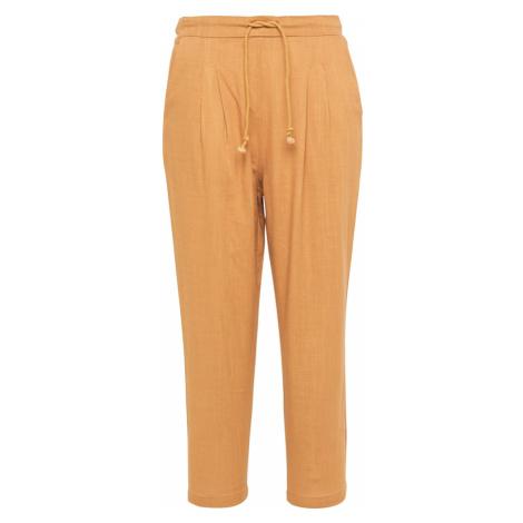Usha Plisované nohavice  farba ťavej srsti