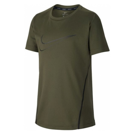 Nike NK DRY TOP SS tmavo zelená - Chlapčenské športové tričko