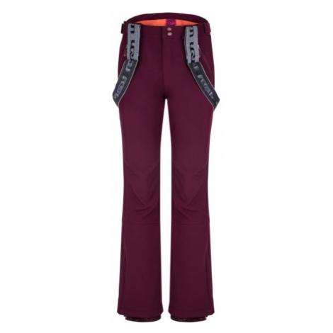 Loap LAKA vínová - Dámske softshellové nohavice
