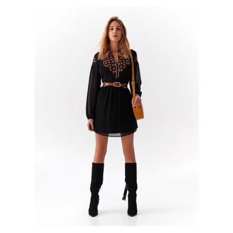 Mini šaty s výšivkou Top Secret