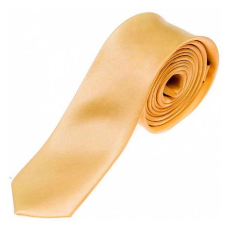 Oranžová pánska elegantná kravata BOLF K001