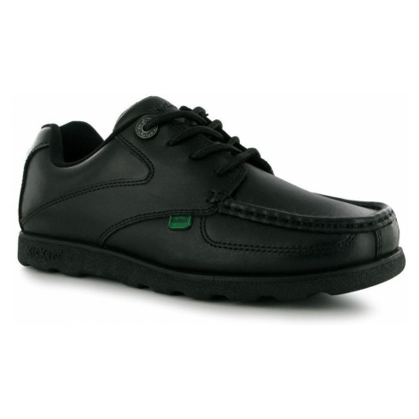 Kickers Fragma Lace Up Kids Shoes Black