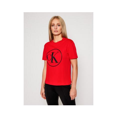 Calvin Klein Jeans Tričko J20J215134 Červená Regular Fit