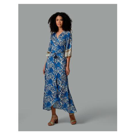 Šaty La Martina Woman Long Dress Printed Twill