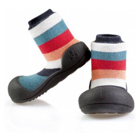 ATTIPAS Detské topánočky Rainbow Black