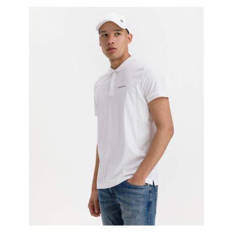 Calvin Klein Micro Branding Liquid Polo tričko Biela