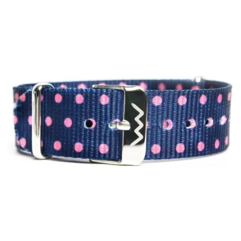 VUCH Nylonový pásek Silver Pink Dots