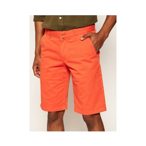 Marc O'Polo Bavlnené šortky 023 0384 15000 Oranžová Regular Fit