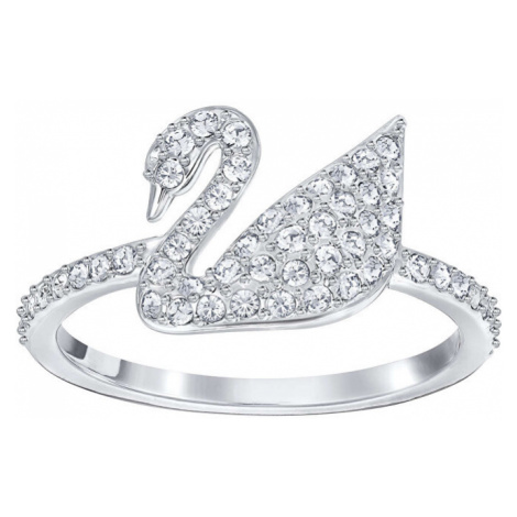 Swarovski Luxusné prsteň s labuťou SWAN 52 mm