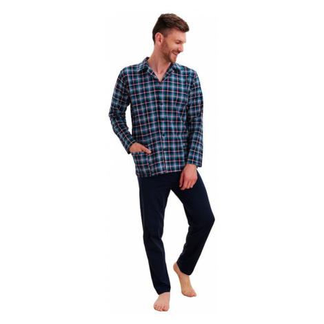 Pánske pyžamo Gracian káro zelené Taro