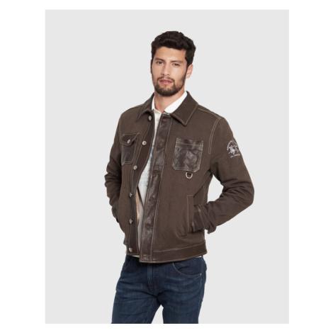 Bunda La Martina Man Jacket Leather Cotton Dril
