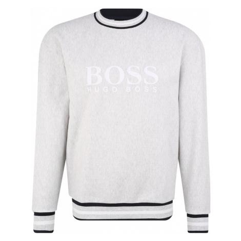 BOSS Mikina 'Heritage'  sivá melírovaná / čierna / biela Hugo Boss