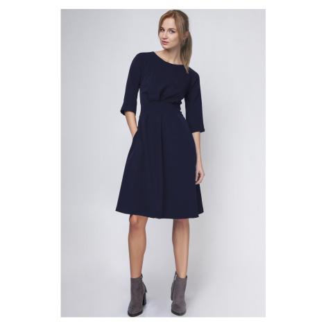 Lanti Woman's Dress Suk122 Navy Blue