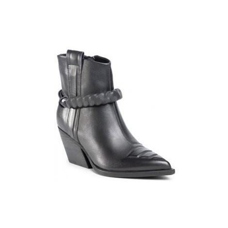 Gino Rossi Členková obuv V398-282-1 Čierna