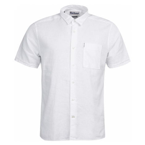 Barbour Letná košeľa Barbour Linen Mix Shirt - biela
