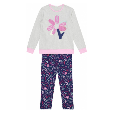 UNITED COLORS OF BENETTON Pyžamo  indigo / svetlosivá / ružová
