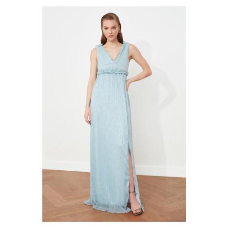 Trendyol Gray Waist Detailed Evening Dress & Graduation Gown