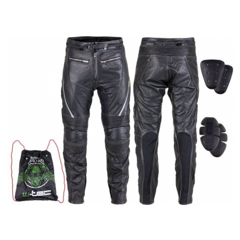 Kožené moto nohavice W-TEC Vilglen Farba čierna
