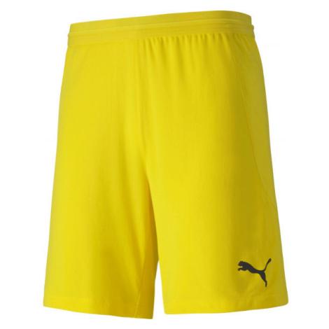 Puma TEAM FINAL 21 KNIT SHORTS žltá - Pánske šortky