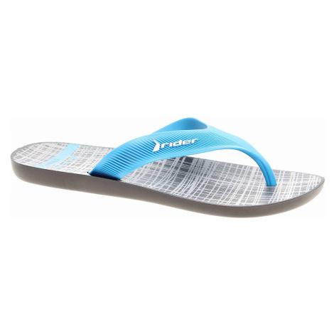 Pánské plážové pantofle Rider 11073 21591 blue-grey 11073 21591