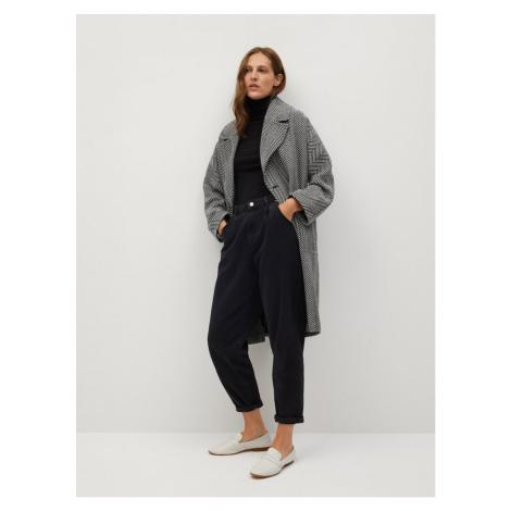 Black-grey patterned wool coat Mango