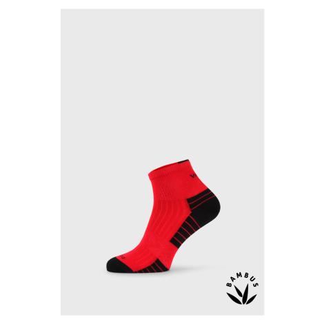 Športové bambusové ponožky Belkin červená VoXX