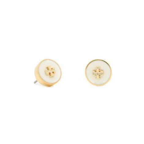 Tory Burch Náušnice Kira Enamel Circle Stud Earring 64885 Zlatá