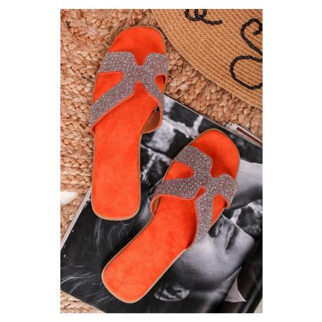 Oranžové šľapky Ramya Bestelle