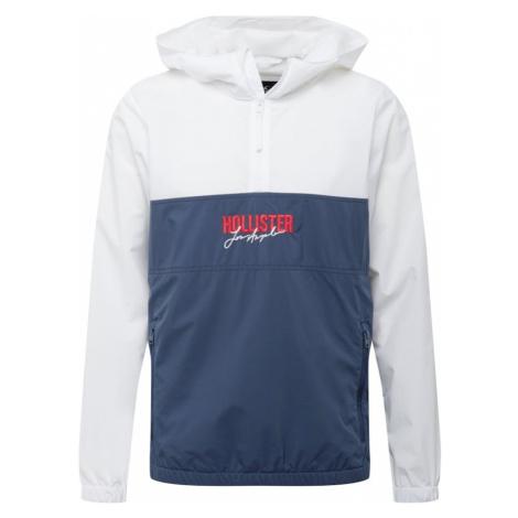 HOLLISTER Prechodná bunda  biela / námornícka modrá / červená