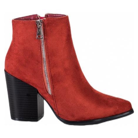 Členkové topánky na podpätku so zipsom MARQUIZ
