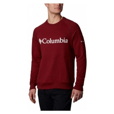 Columbia LODGE CREW červená - Pánsky outdoorový sveter