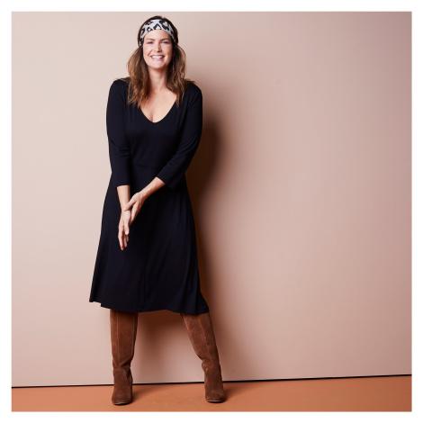 Blancheporte Dlhé jednofarebné šaty čierna