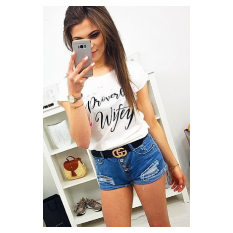 Women's T-shirt with a cream print RY1075 DStreet