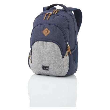 Travelite Mestský batoh Basics Melange Navy/grey 22 l