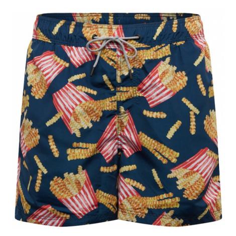 JACK & JONES Plavecké šortky 'ARUBA'  námornícka modrá / červená / žltá