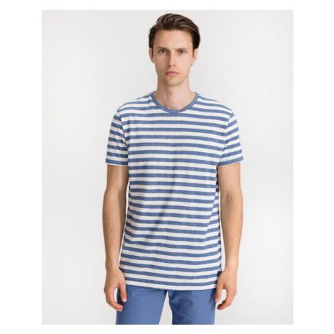 Blend Tričko Modrá Biela