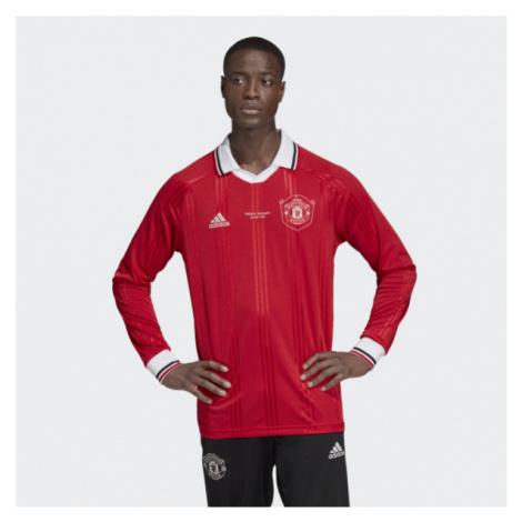 Tričko s dlhým rukávom Adidas Manchester United Icons Tee Rea Red - Veľkosť:2XL