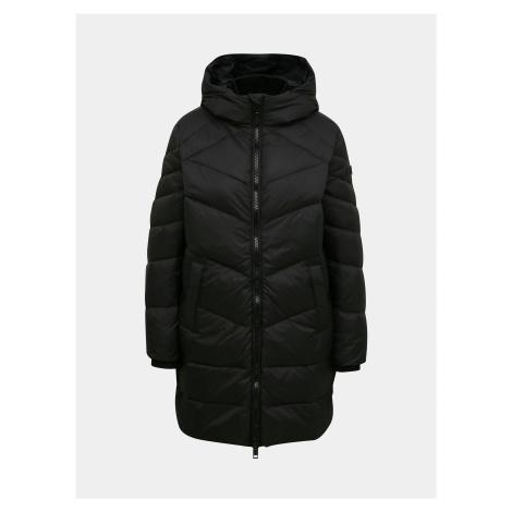 Čierny dámsky zimný prešívaný kabát Diesel