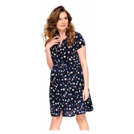Letné materské šaty Ivona tmavo modré