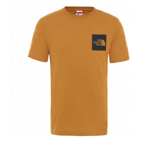 The North Face M S/S Fine Tee Timber Tan-XL hnedé NF00CEQ5VC7-XL