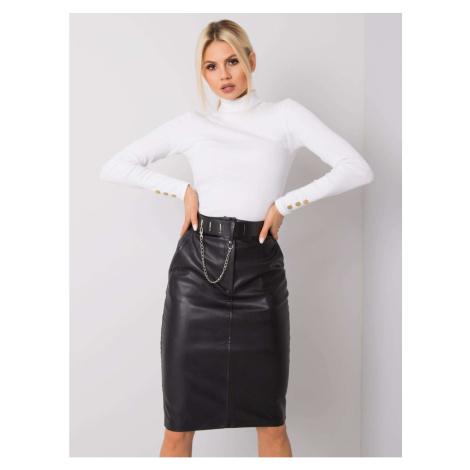 RUE PARIS Black midi skirt