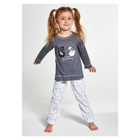 Cornette Kids Girl 379/131 Swan LL Tmavě šedá