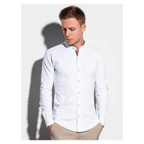 Pánska košeľa s dlhým rukávom Healy biela s